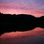 Sonnenuntergang Hennesee talsperren-angelguiding.de
