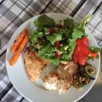 Teller mit Fischfilet
